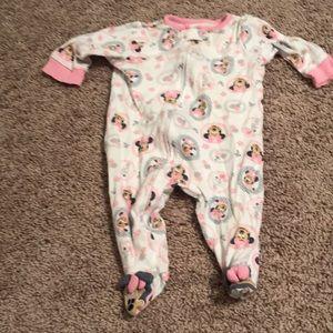 3-6M Minnie Mouse Disney Footie pajamas zipper